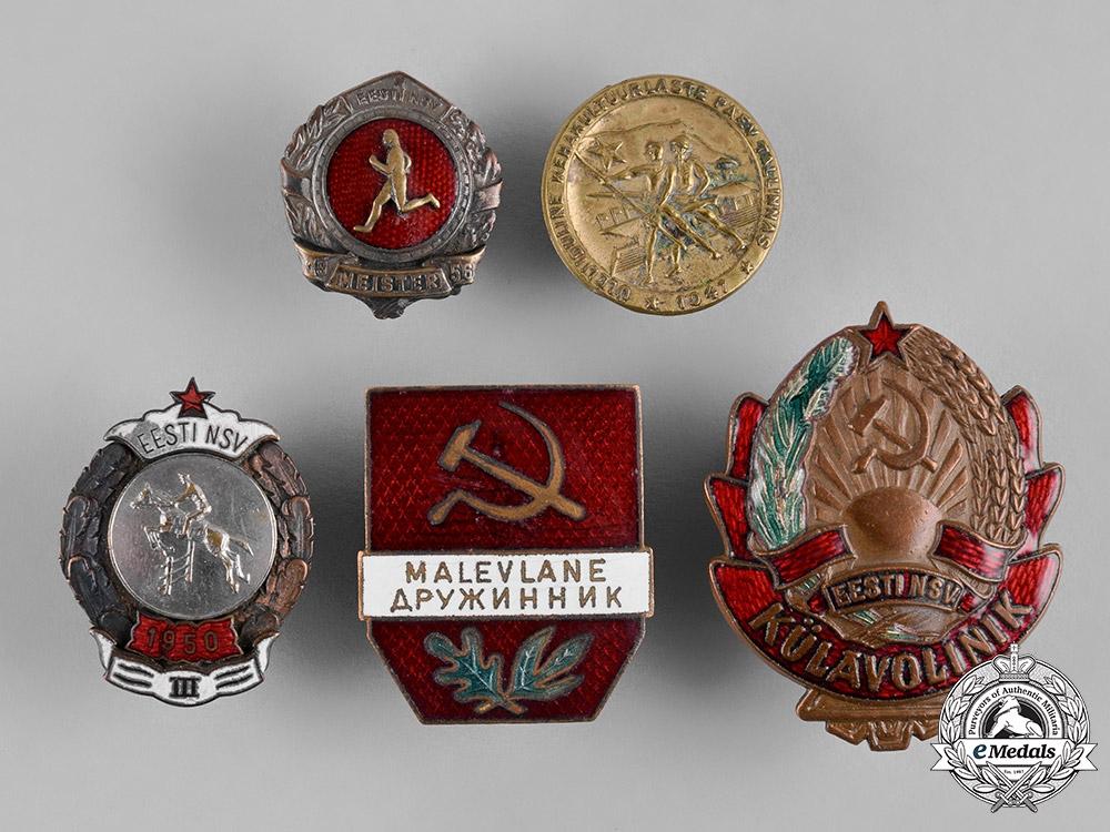 Estonia, Republic. A Lot of Estonian Badges