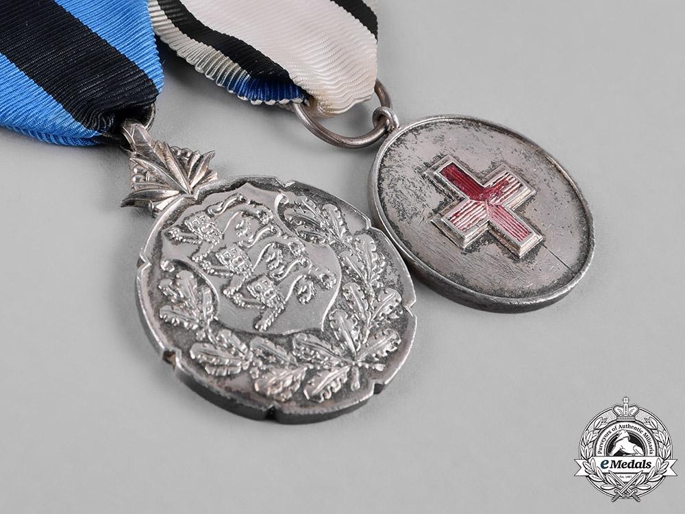 Estonia, Republic. A Pair of Silver Medals
