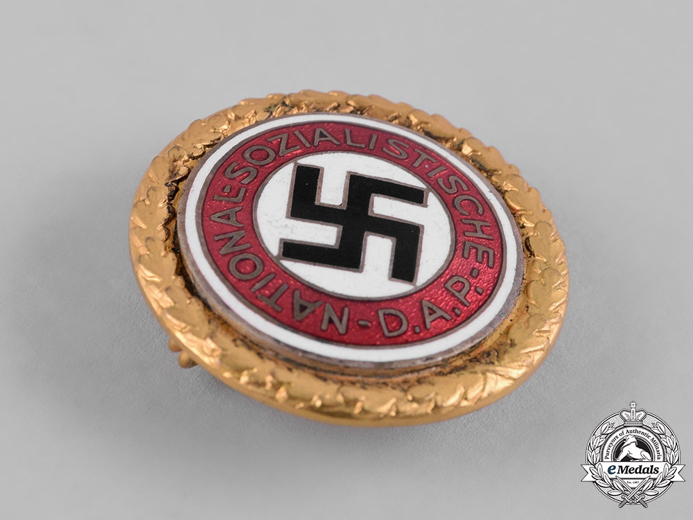 Germany, NSDAP  A Golden Party Badge, Large Version, by