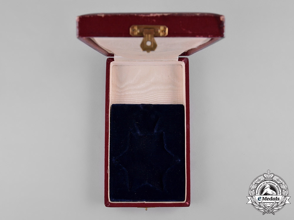 Iran, Pahlavi Empire. Imperial Order of the Lion and the Sun, III Class Commander Case