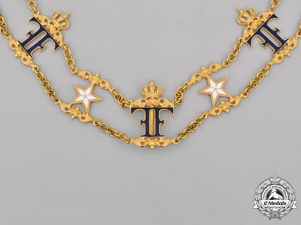 Sweden, Kingdom. An Order of the North Star, Grand Cross Collar Chain, by C. F. Carlman, c.1900