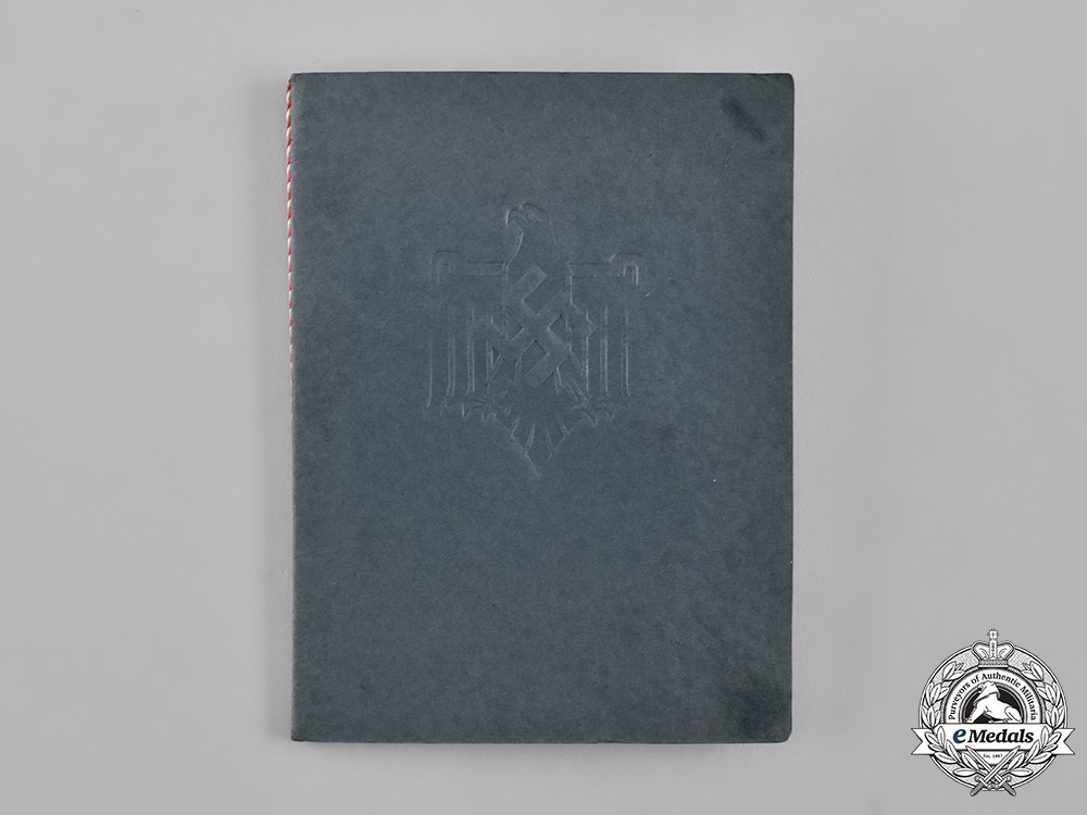 Germany, Wehrmacht. A First Place Award Document for the 1938 Bavaria Gau Sports Championship