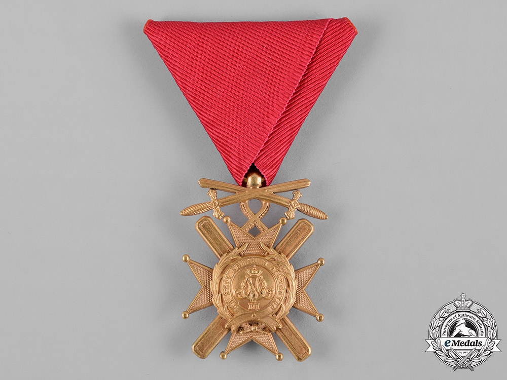 Serbia, Kingdom. An Order of the Cross of Takovo, V Class Knight with Swords