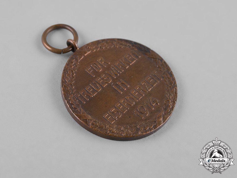 Reuss, Principality. A Medal for Faithful War Service