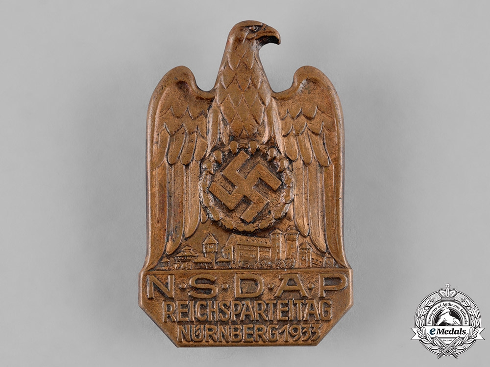Germany, NSDAP. A 1933 Nuremberg Rally Badge by C. Balmberger