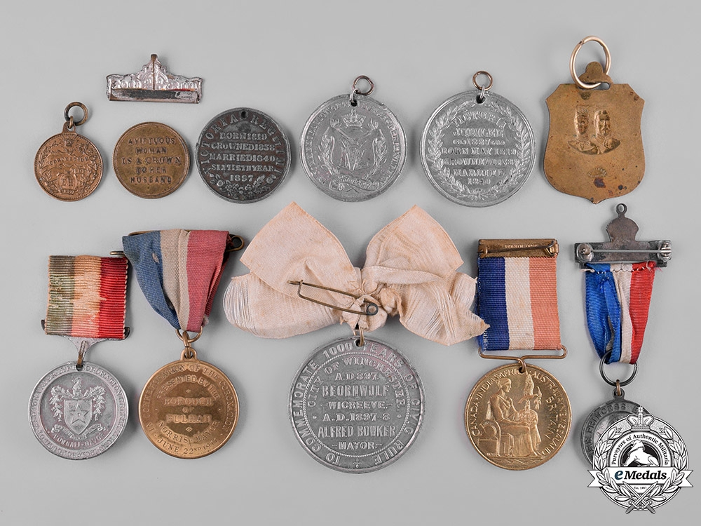 United Kingdom. A Lot of Eleven Royal Coronation & Commemorative Medals