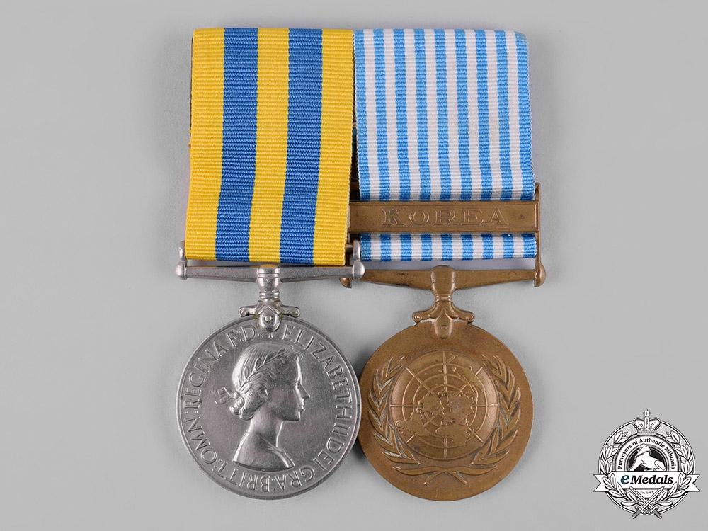 Australia. Korean War Pair, to Private Royston Ernest Hammond, 3rd Battalion, The Royal Australian Regiment, Royal Australian Infantry Corps