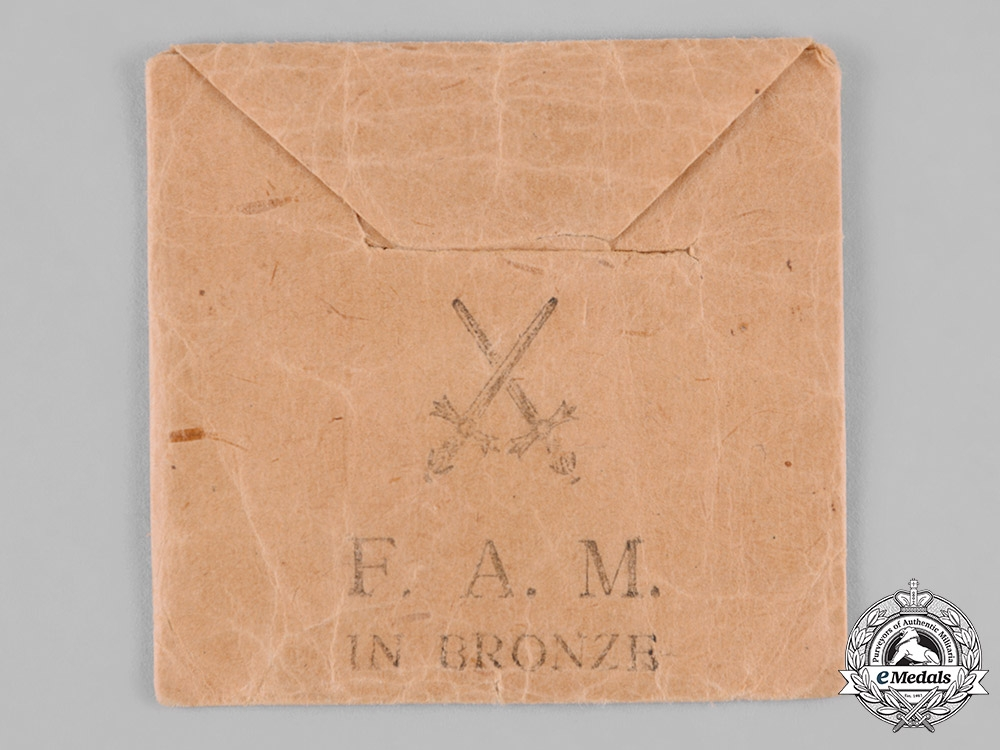 Saxony, Kingdom. A Friedrich August Medal in Bronze