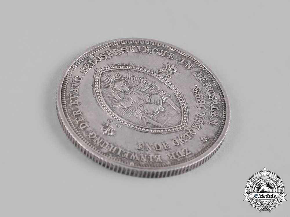 Germany, Imperial. An 1898 Medallion for the Opening of the Church of the Redeemer in Jerusalem