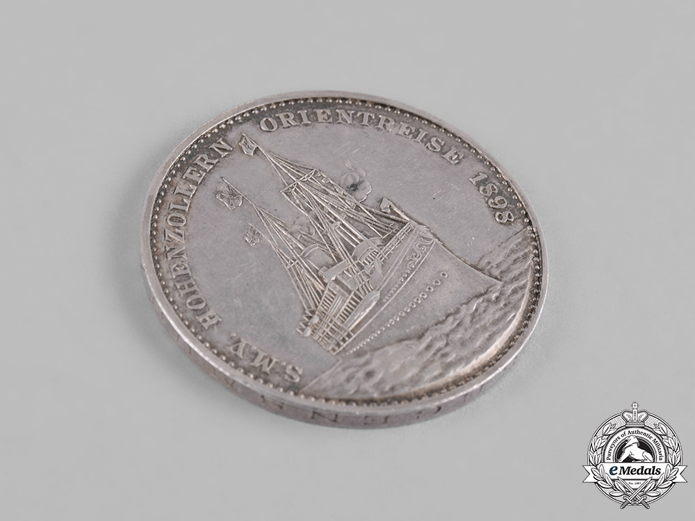 Germany, Imperial. An 1898 Medallion for the Voyage of the S.M.Y. Hohenzollern to the Middle East