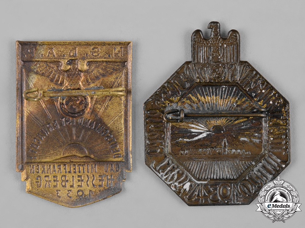 Germany, NSDAP. A Pair of Commemorative Badges