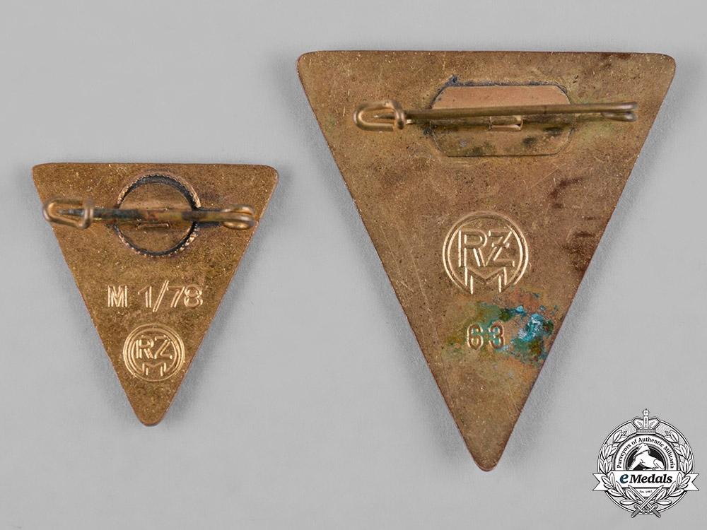 Germany, NS-Frauenschaft. A Pair of National Socialist Women's League Membership Badges