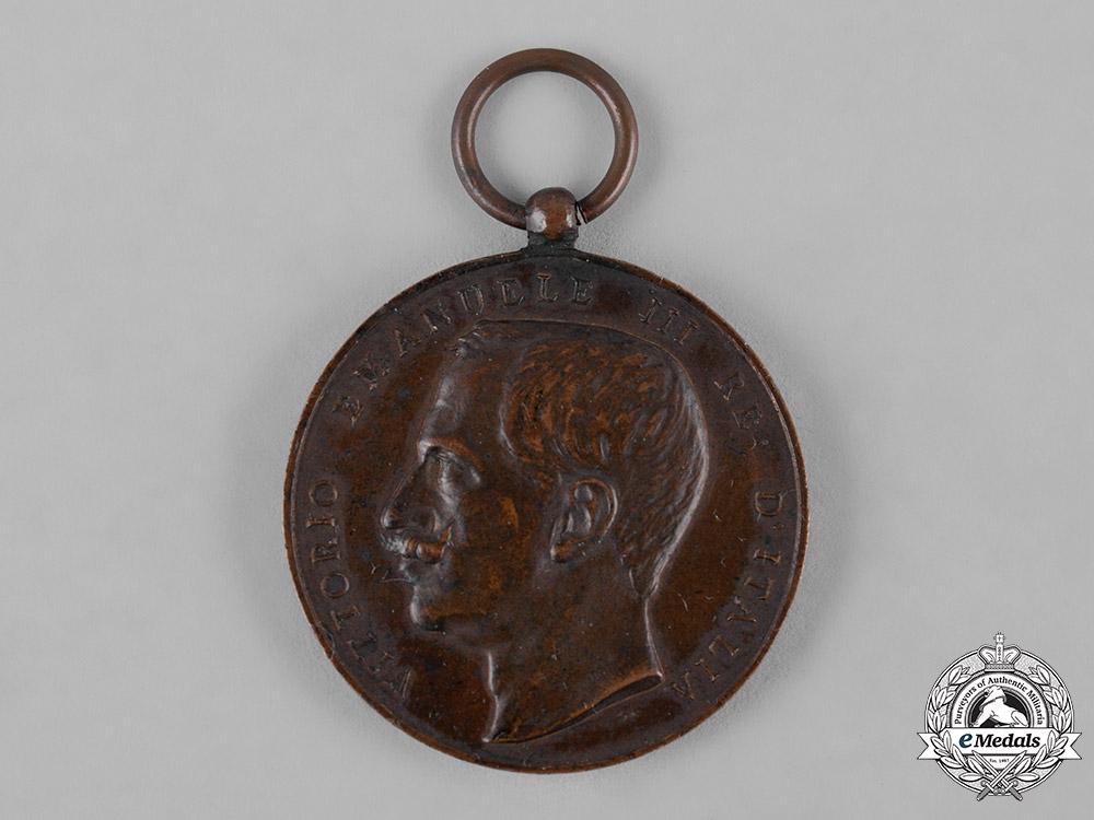 Italy, Kingdom. A Medal for Public Welfare, III Class Bronze Grade