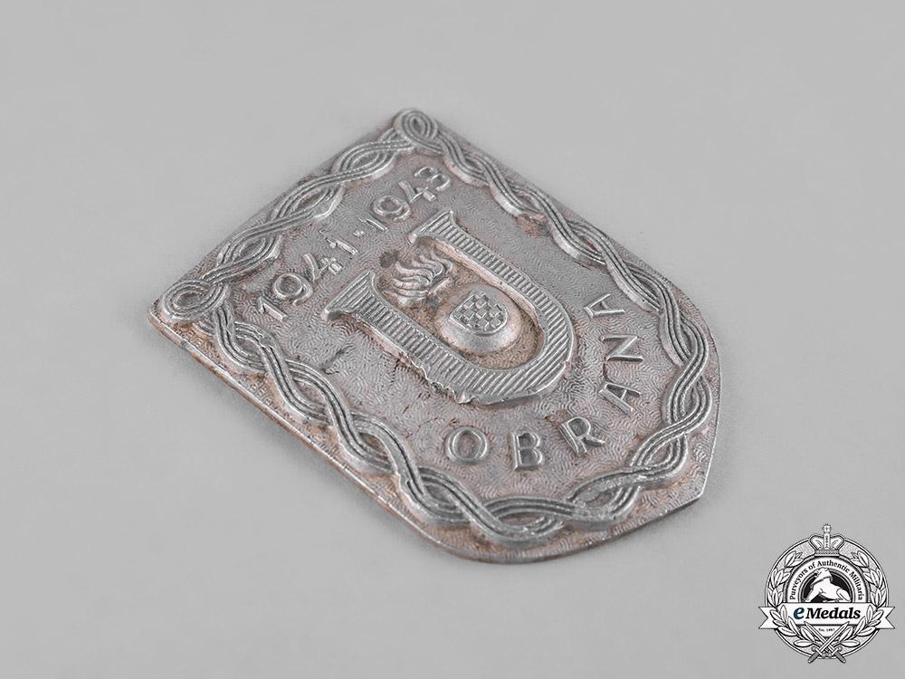 Croatia, Independent State. A Ustasha Defence Badge, c.1942