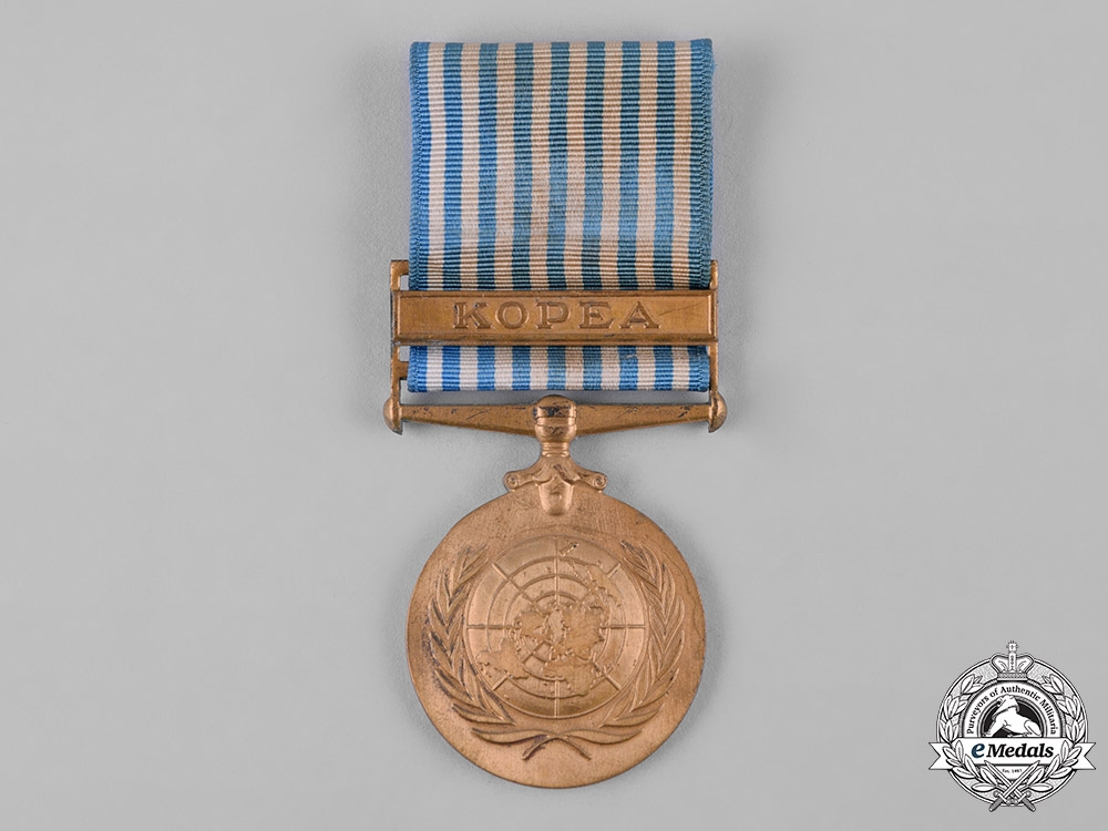 United Nations. A Service Medal for Korea with Greek Inscription