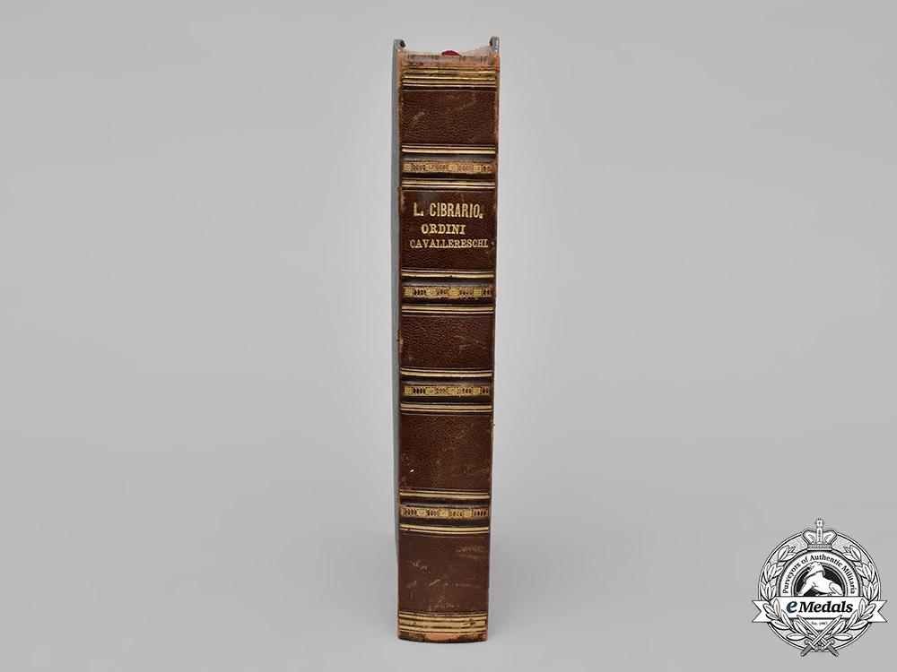 Italy, Kingdom. Descrizione Storica Degli Ordini Cavallereschi, by Luigi Cibrario, 1846