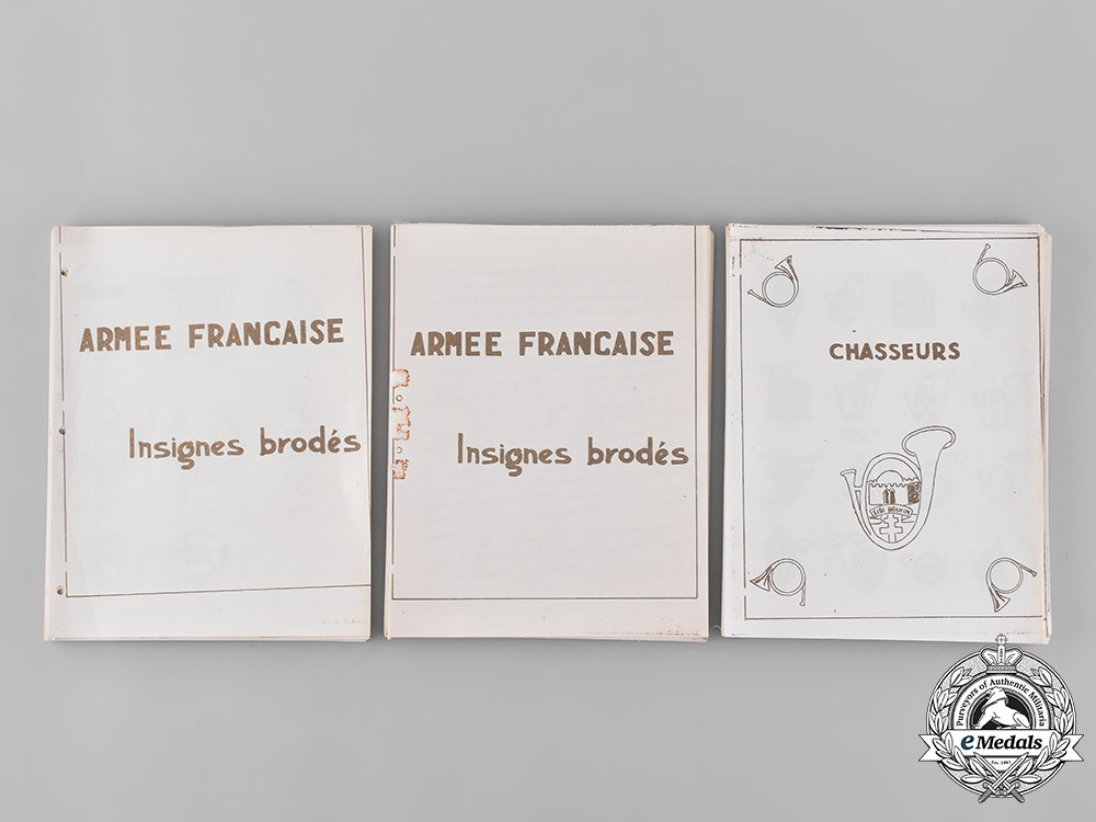 France, III and IV Republic. Two French Army Embroidered Insignia Publications