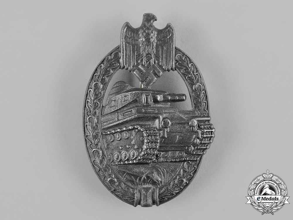 Germany, Wehrmacht. A Panzer Assault Badge, Silver Grade, by Adolf Schwerdt