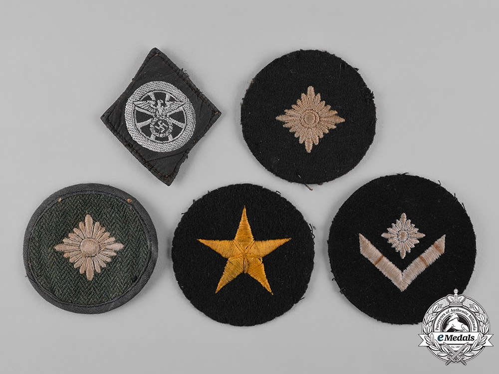 Germany, Kriegsmarine. A Lot of German Navy Trade Patches and Rank Insignia
