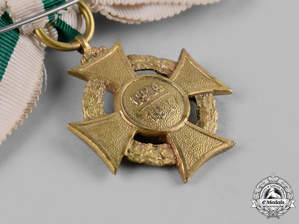 Saxony, Kingdom. An Honour Cross for Volunteer Nurses 1914/1917