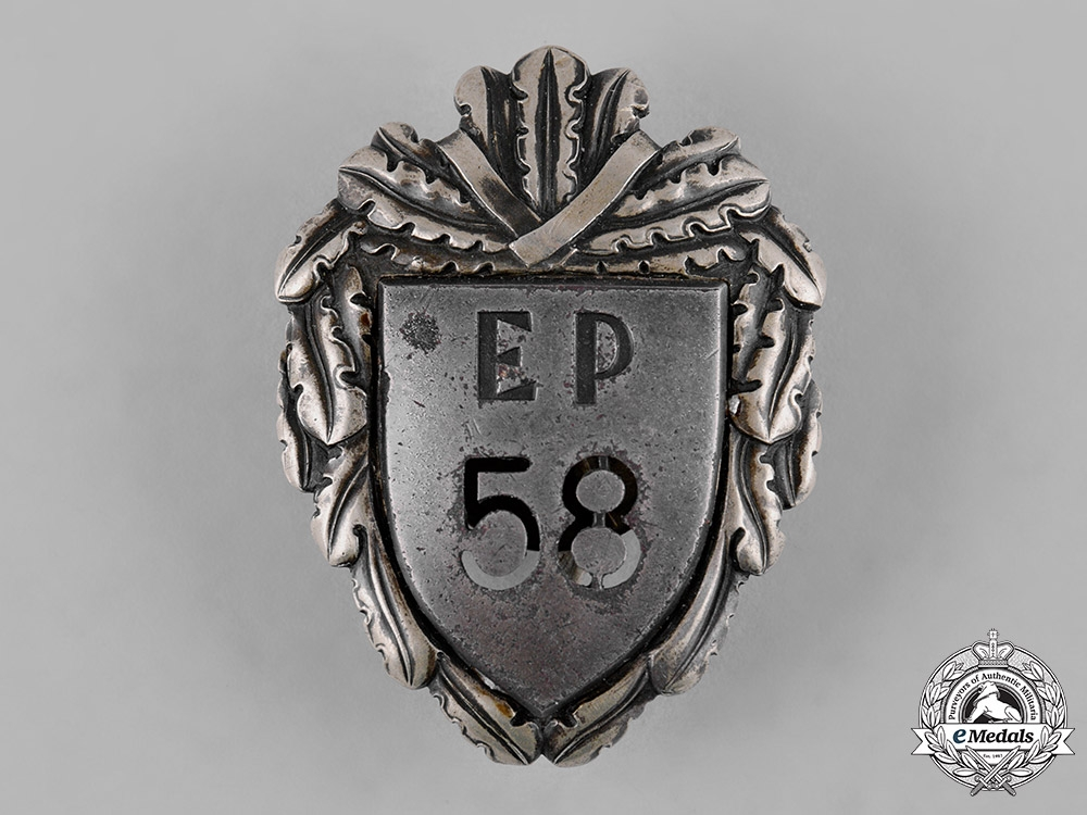 Estonia, Republic. A Police Badge, by Roman Tavast of Tallinn, c. 1930s
