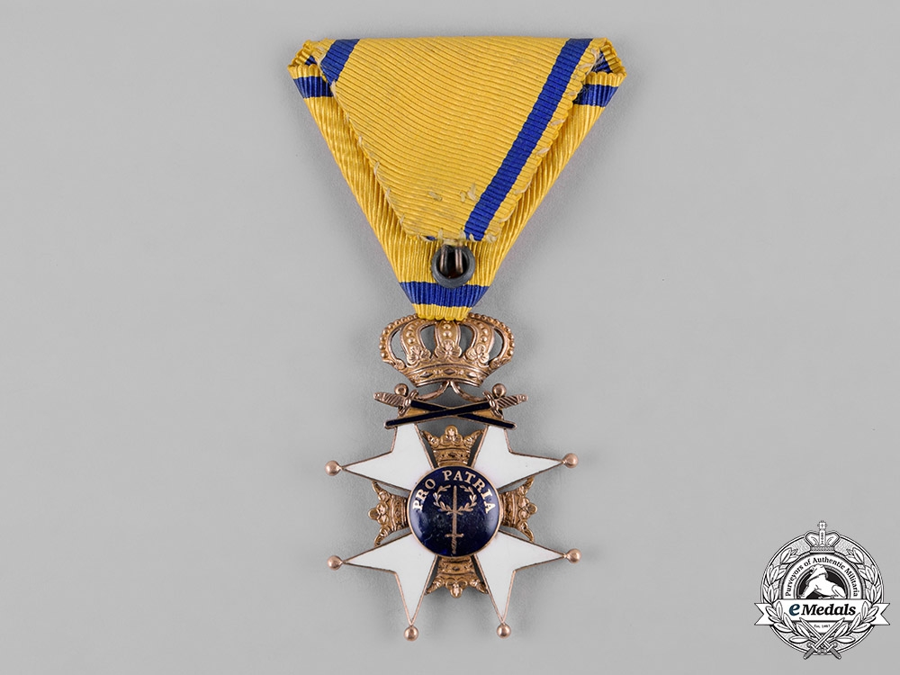 Sweden, Kingdom. An Order of the Sword, I Class Knight in Gold, c.1865