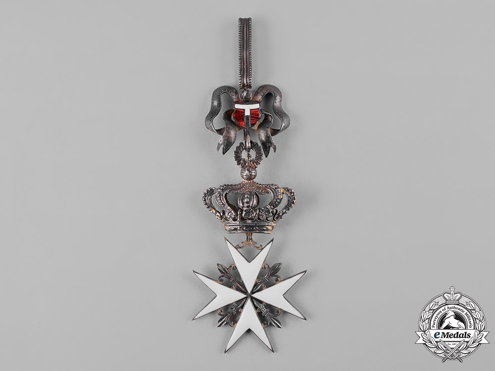 Italy, Kingdom. An Order of Merit of the Sovereign Military Hospitaller Order of Saint John, by Tanfani Bertarelli