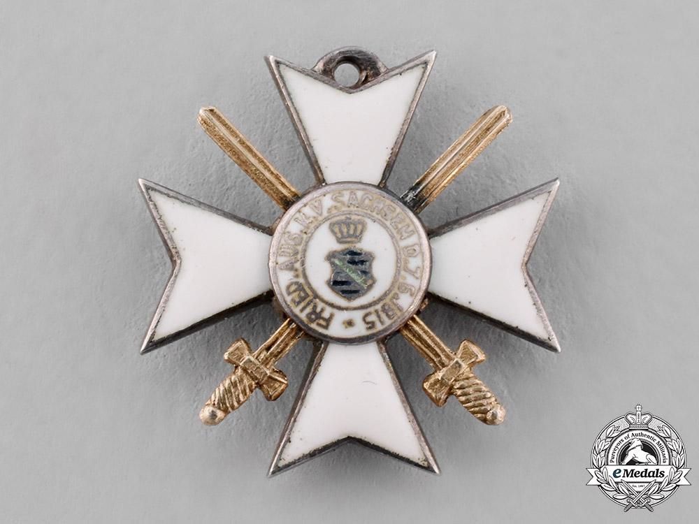 Saxony, Kingdom. A Civil Merit Order with Swords, Miniature Version