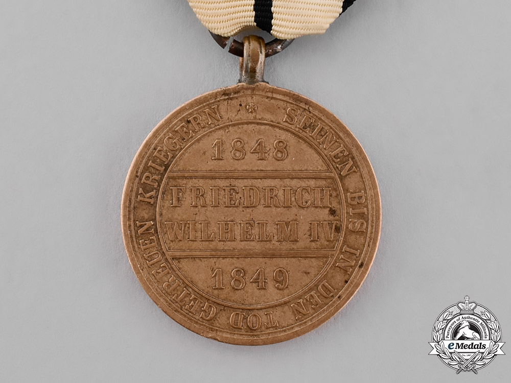 Prussia, Kingdom. A Hohenzollern Commemorative Medal for Combatants, 1848-1849