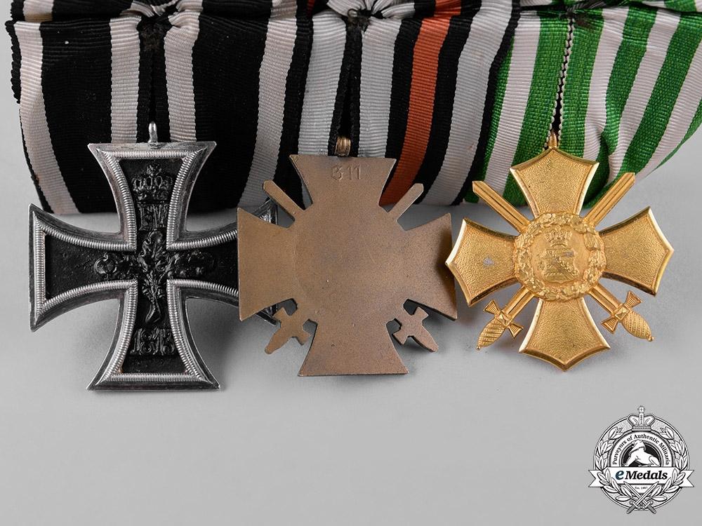 Saxony, Kingdom. A Saxony General Honour Cross Medal Bar