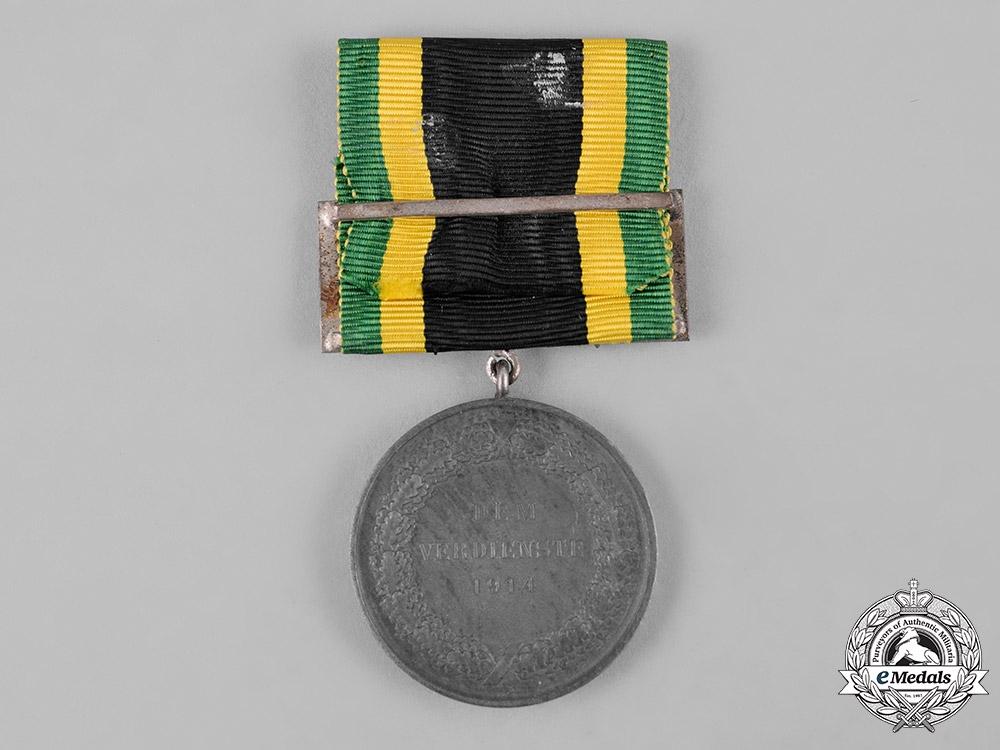 Saxe-Weimar-Eisenach, Duchy. A General Honour Badge with Swords, Silver Grade