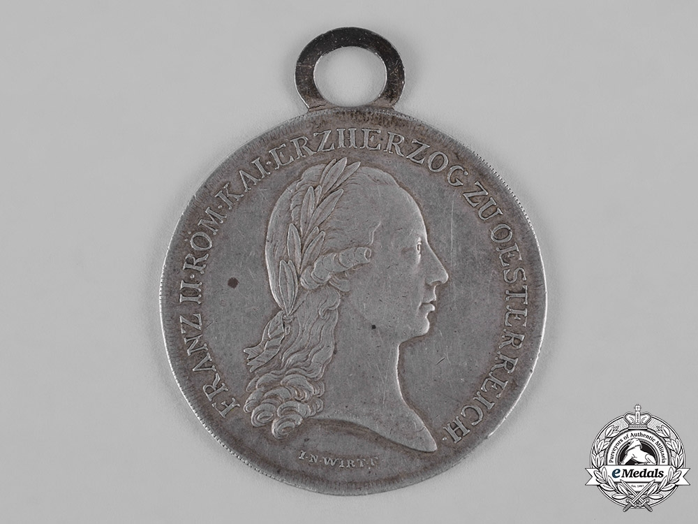 Austria, Imperial. A Silver Merit Medal for the Lower Austrian State Contingent, c.1797