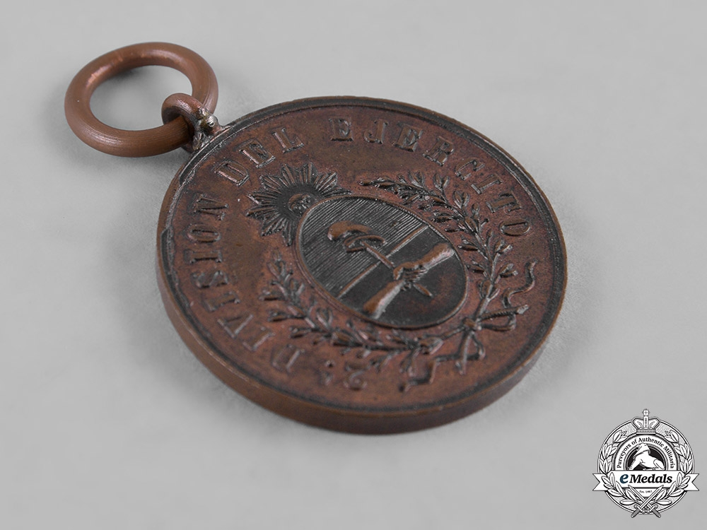 Argentina, Republic. An Andes Campaign Medal 1882-1883, III Class, Bronze Grade
