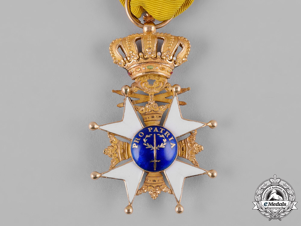 Sweden, Kingdom. An Order of the Sword, I Class Knight in Gold, c.1850