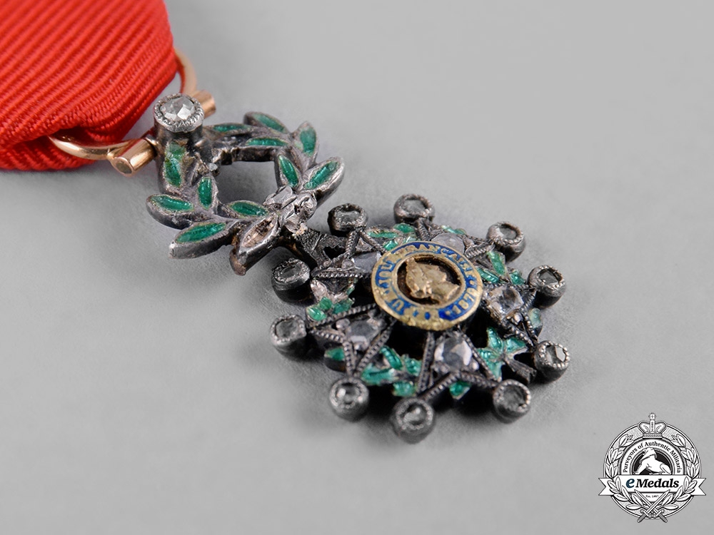 France, III Republic. An Order of the Legion of Honour, Miniature in Gold with Diamonds, c.1918