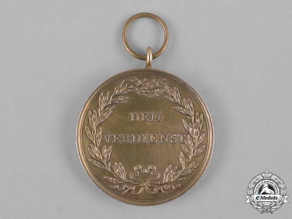 Hesse-Kassel, Landgraviate. A Rare MIlitary Merit Medal, Gold Grade, c.1830