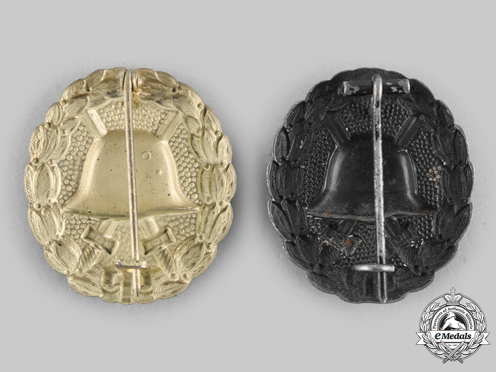 Germany, Imperial. A Pair of Wound Badges