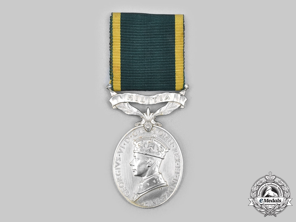 United Kingdom. An Efficiency Medal, to Signalman G.W. Narramore, Royal Corps of Signals