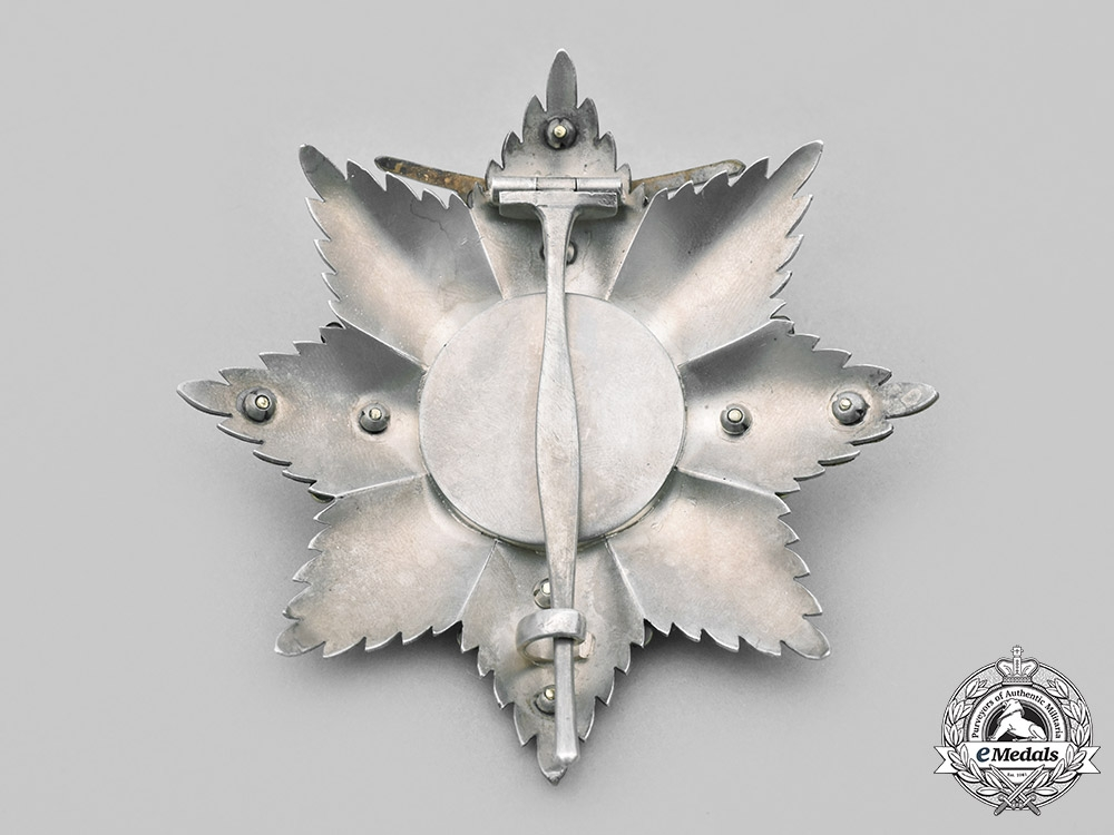 Saxe-Ernestine, Duchy. A House Order of Saxe-Ernestine, Grand Cross Star, Military Division, c. 1940