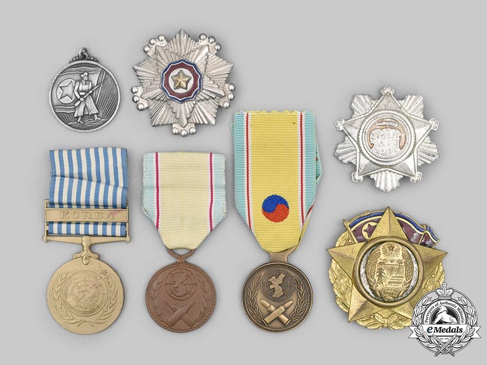 Korea, Republic (South Korea); Democratic People's Republic (North Korea); United Nations. A Lot of Seven Military Awards