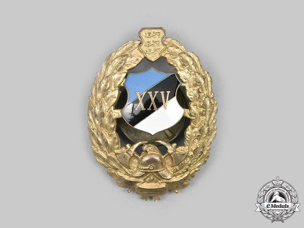 Estonia, Republic. Fire Service Twenty-Five Years' Service Badge