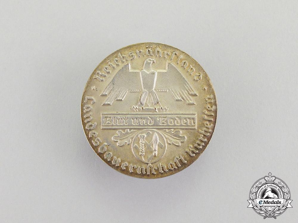 Germany. A Reichsnährstand Kurhessen 25-Year Long Membership Badge