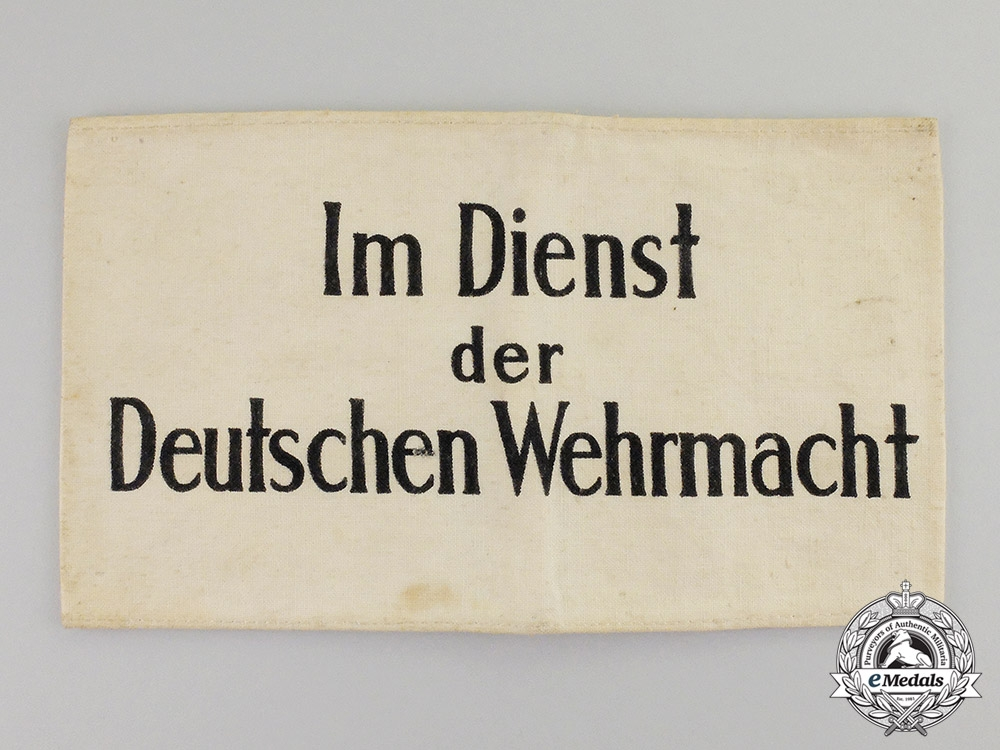 """Germany. A Third Reich Period """"In the Service of the Wehrmacht"""" Civilian Aid Armband"""
