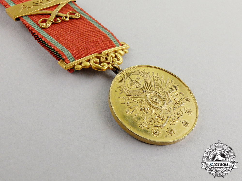 Turkey. A First War Issued Medal for Merit, Gold Grade
