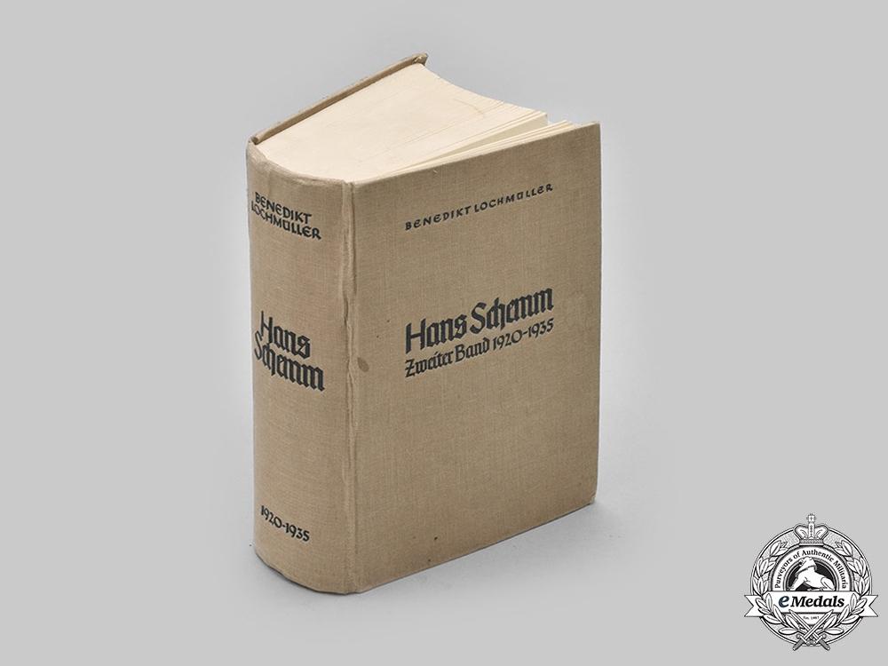 Germany, Third Reich. A 1940 Edition of Hans Schemm: Zweiter Band, 1920-1935, by Benedikt Lochmüller
