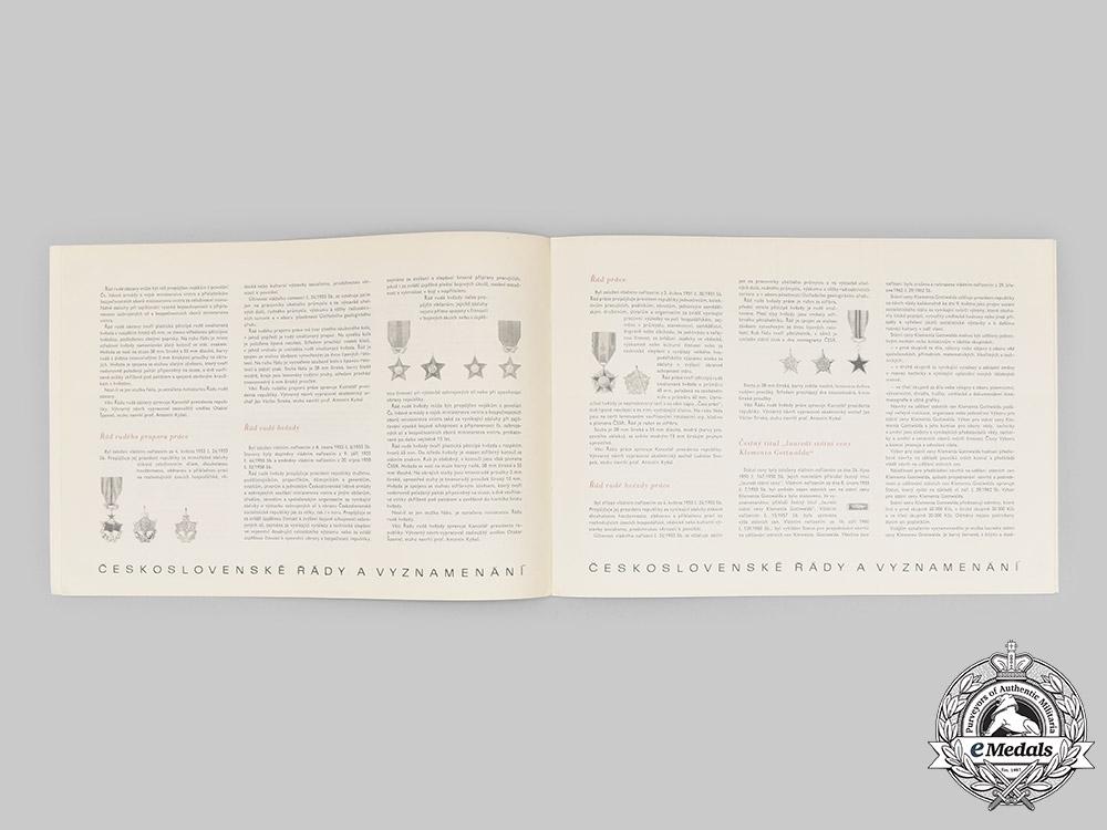 Czechoslovakia, Socialist Republic. An Army-Issued Czechoslovak Orders and Decorations