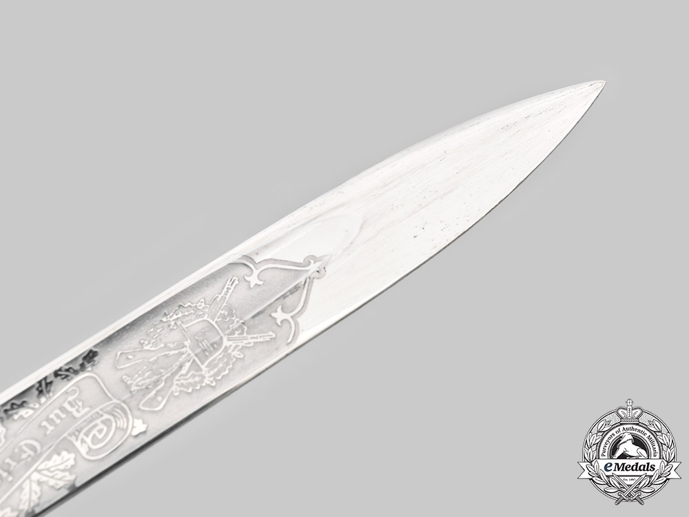 Germany, Heer. An NCO/Officer's Etched Dress Bayonet, by Carl Eickhorn