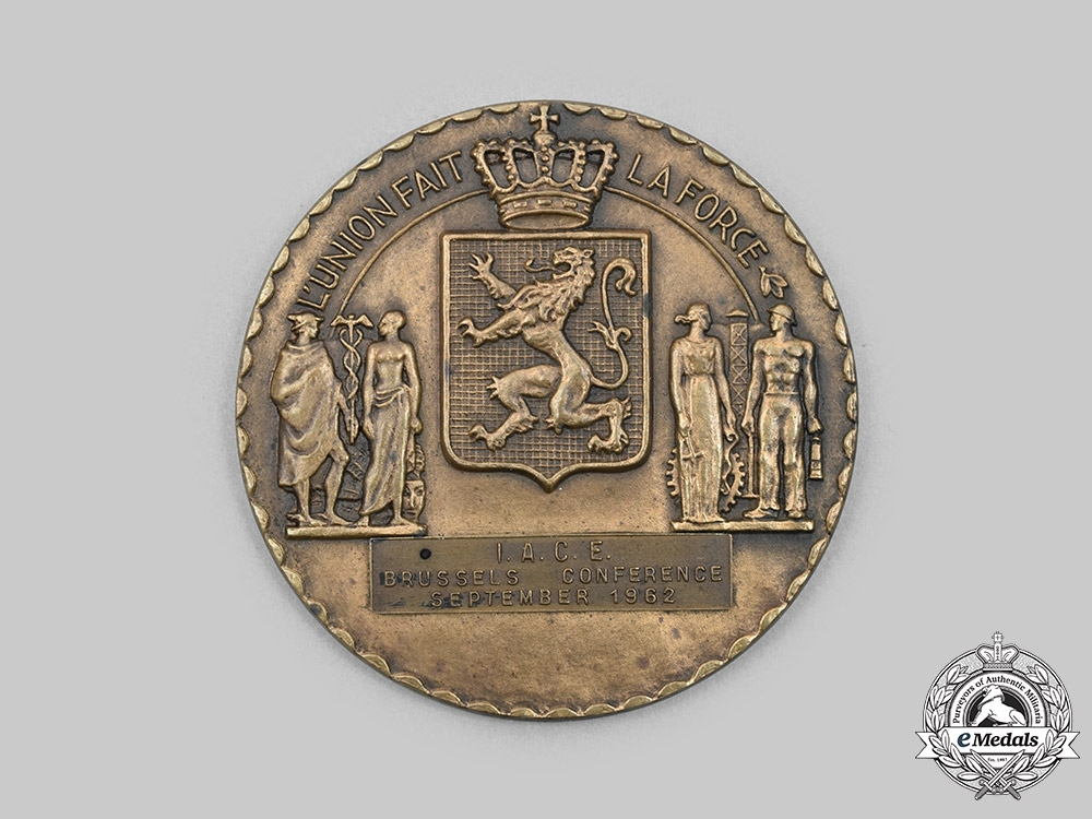 Belgium, Kingdom.An International Air Cadet Exchange (I.A.C.E.) Conference at Brussels Medal 1962