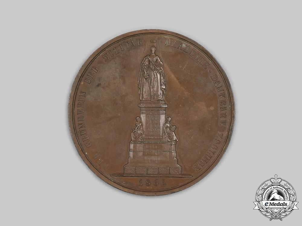 Austria, Empire. A Theresian Military Academy Table Medal 1862