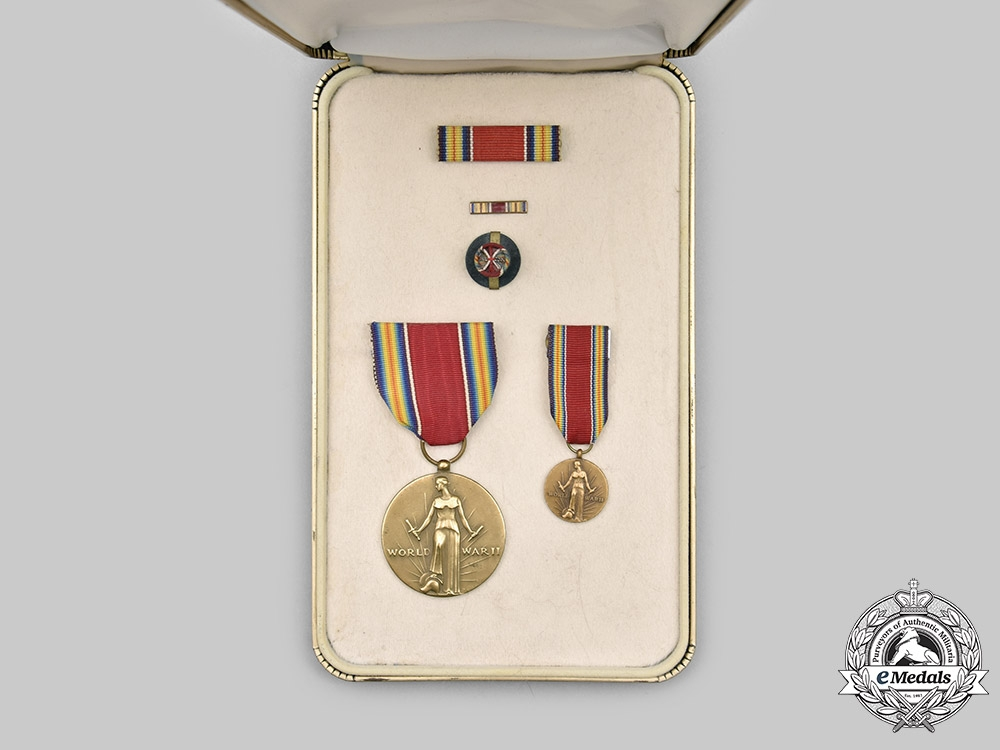United States. A World War II Victory Medal, Cased